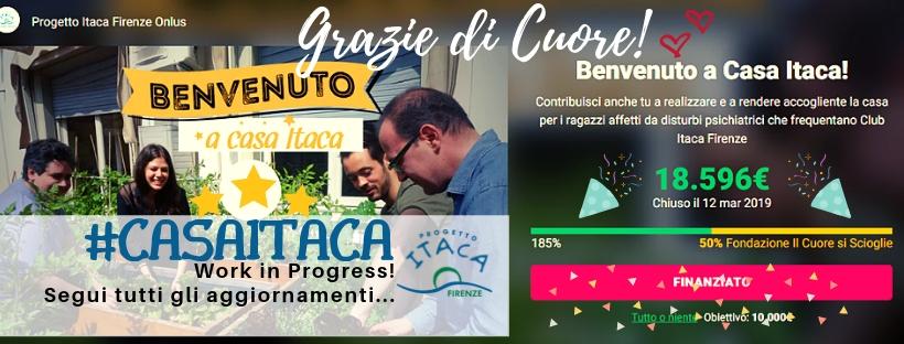 Grande successo per Benvenuto a Casa Itaca! Raccolti 18.596 euro!