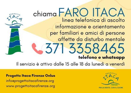 Faro Itaca | Da lunedì 3 giugno la nuova linea d'ascolto dedicata a chi vive a stretto contatto con la Malattia Mentale