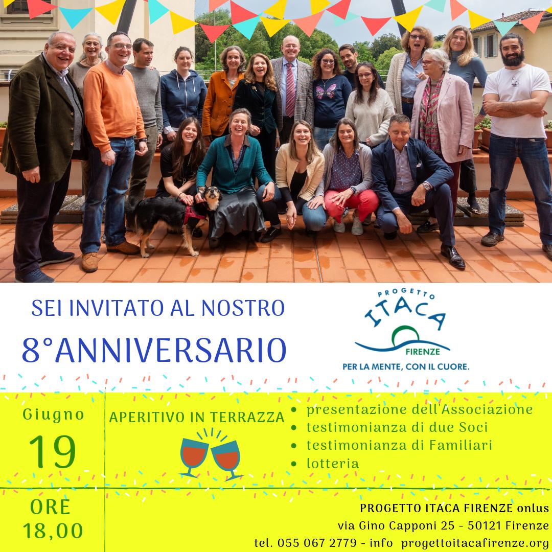 19 giugno, ore 18 | Ottavo Anniversario Progetto Itaca Firenze