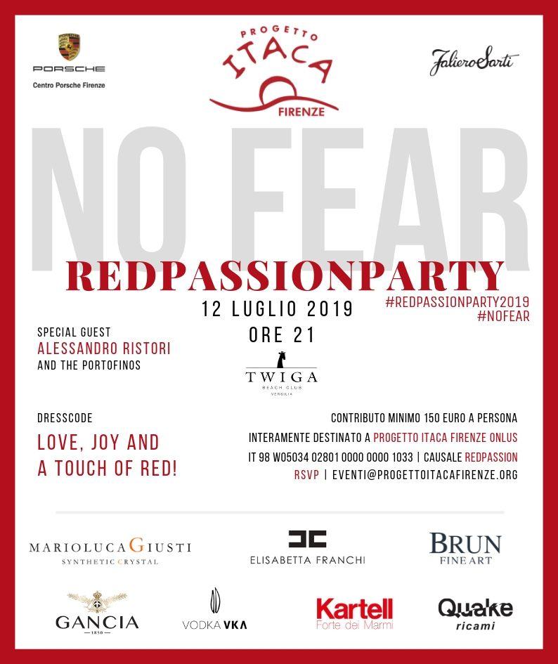 Red Passion Party NO FEAR | 12 luglio, ore 21